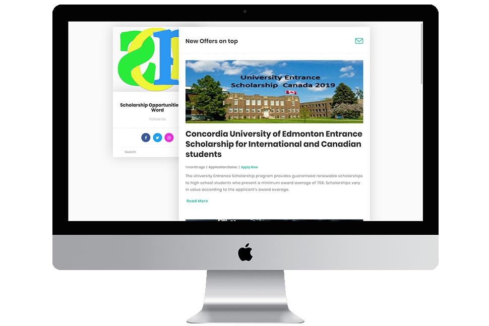 Nourkas Web Portfolio Scholarship Opportunities website Design and Coding